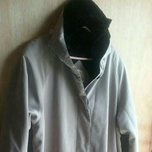 NEW YORK HARBOR- TAN HOODED DRESSY TRENCH COAT XL